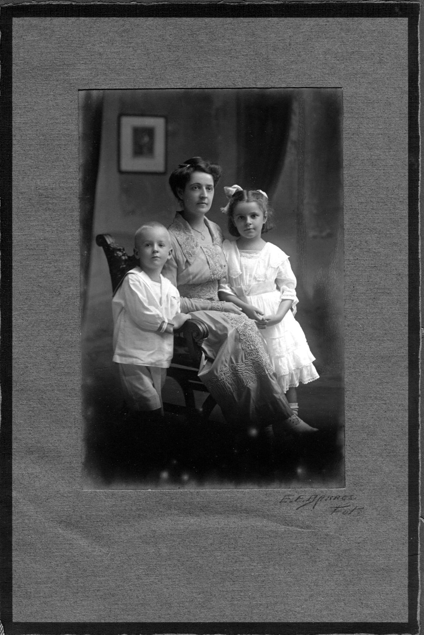 Olive Nicklos with Children