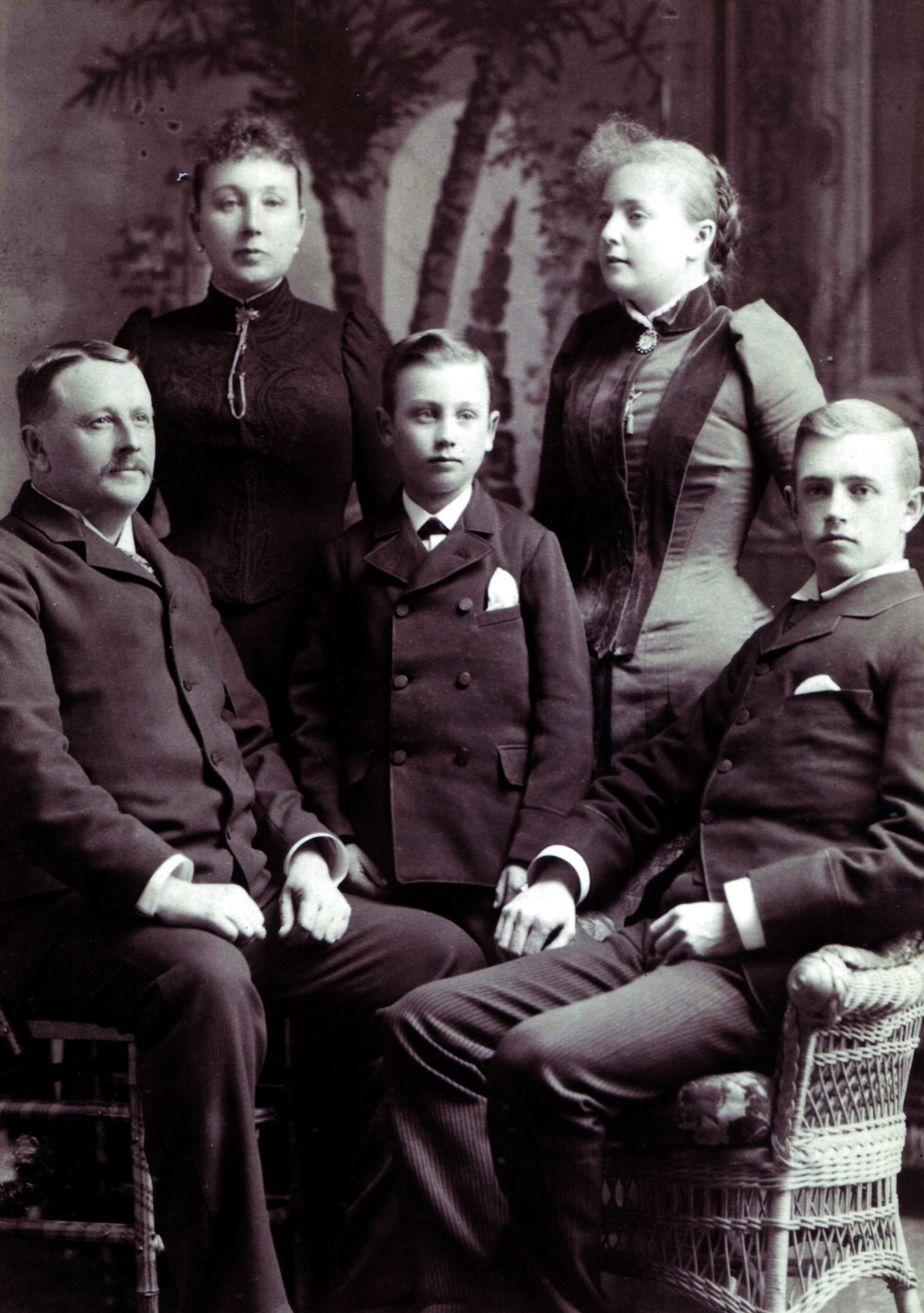 Cyrus Frances Perkins Family Photo