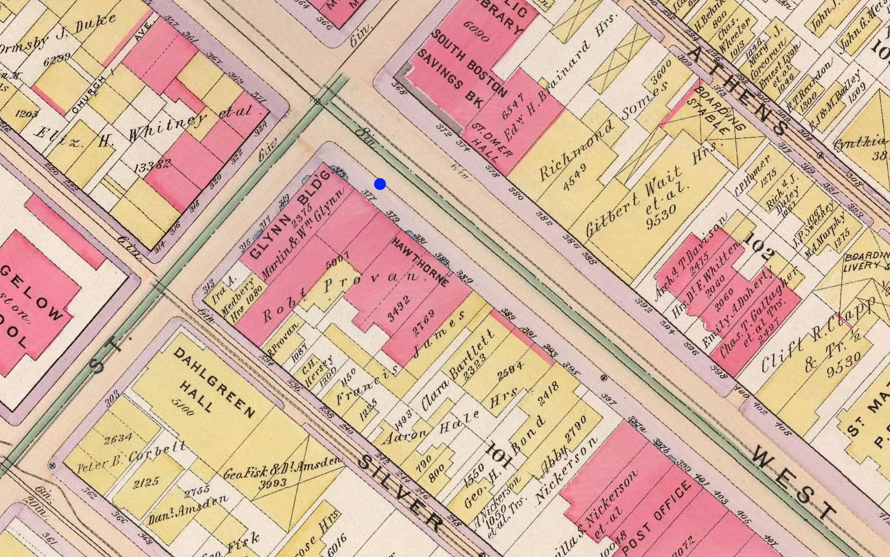 377 West Broadway, Boston, in 1899