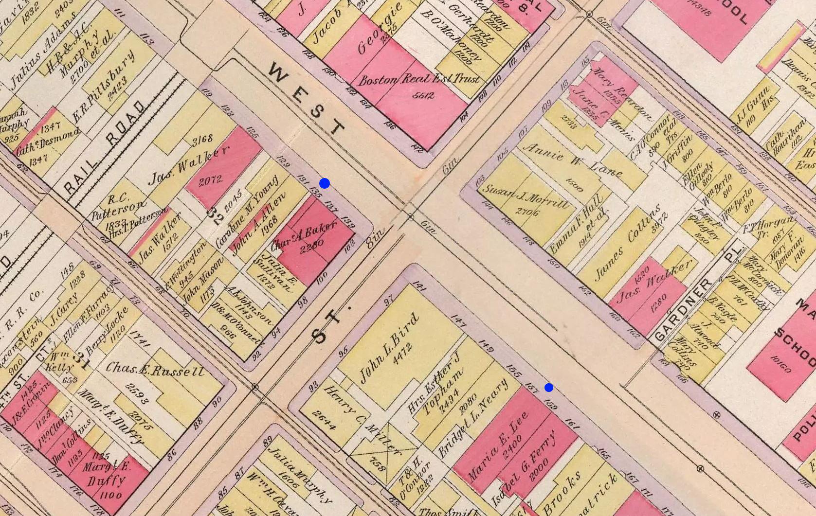 W Broadway Street, Boston, 1899