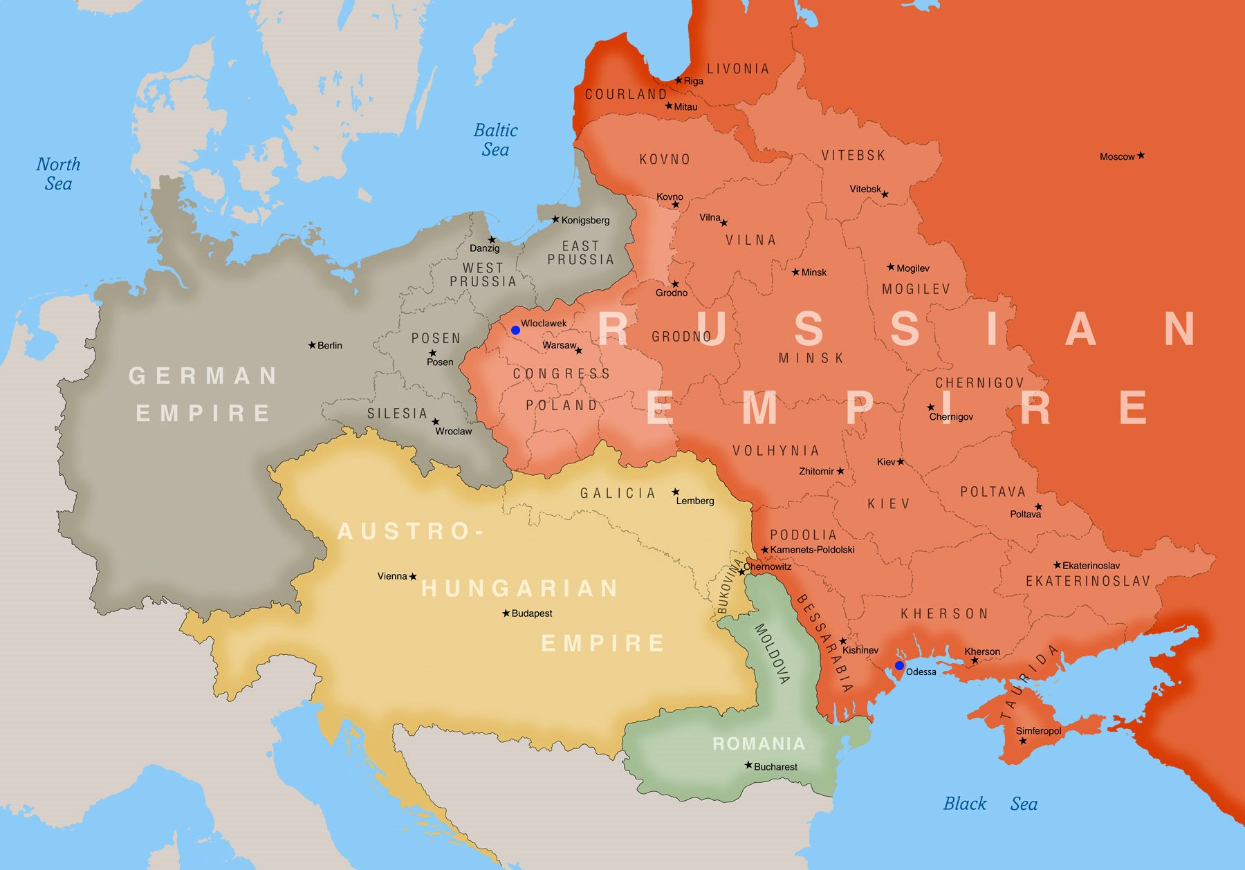 Central & Eastern Europe 1900