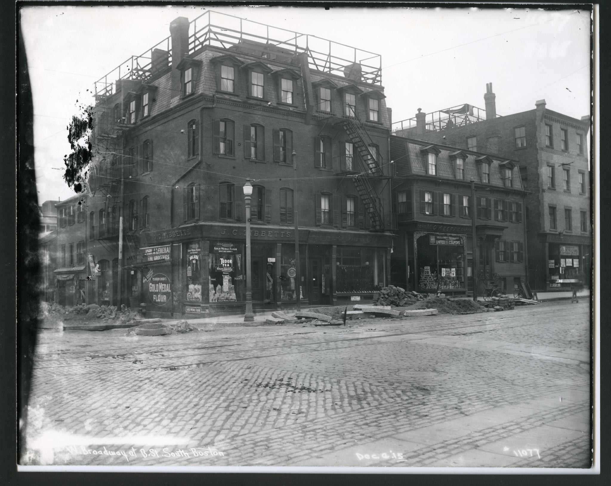 Broadway at B St Boston on Nov 1915